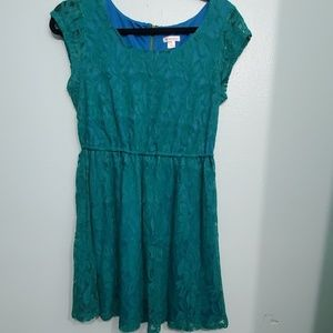 Xhilaration Aqua Lace Dress